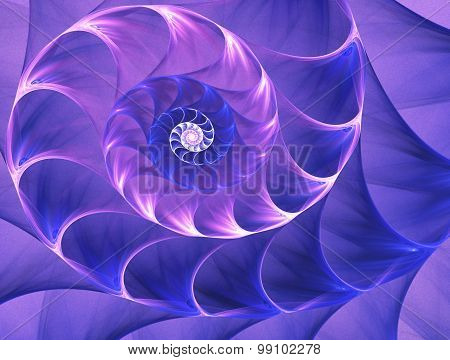 Abstract Fractal Snail . Graphic . Background