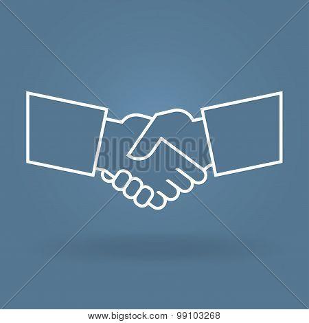 Shake hand  line icon