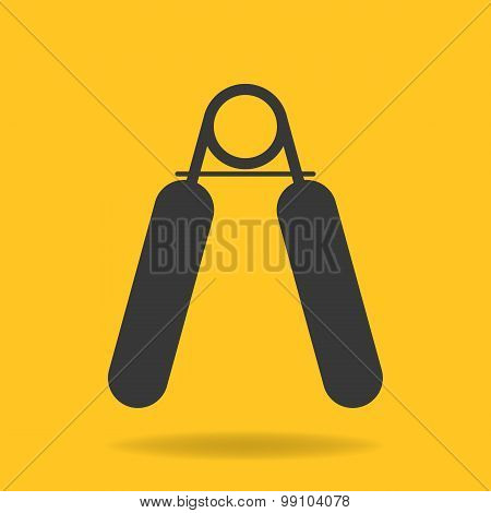 Icon of hand grip exerciser or trainer poster