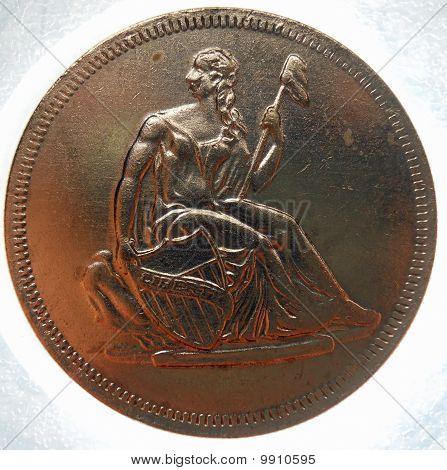 seated liberty silver 1oz