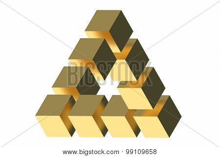 The Penrose Triangle Optical Illusion