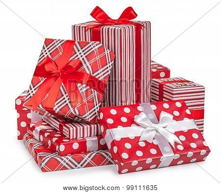 Christmas Gifts Box Isolated On White Background