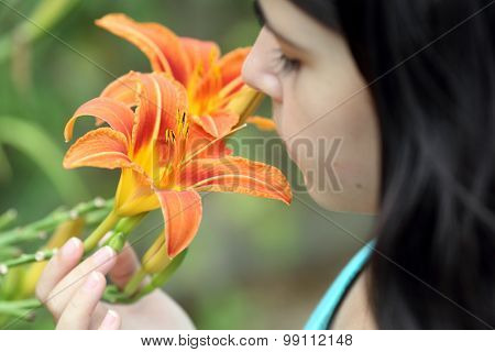 Lilium And Girl