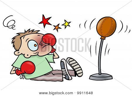Boxing accident