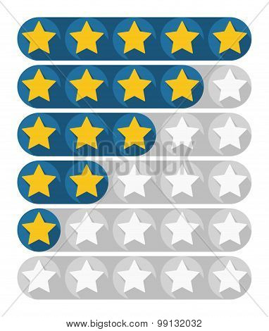 Rating Stars, Vector Illustration