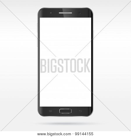 Modern detailed realistic smartphone vector mockup