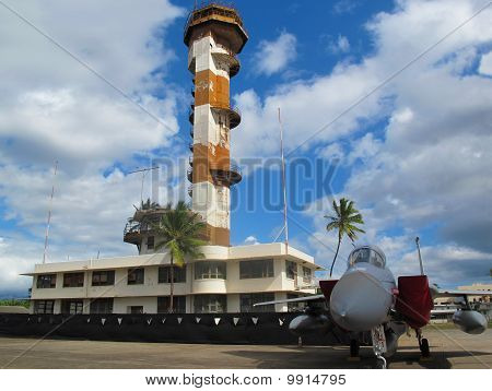 Ford Island Air Control Tower - F15A Eagle