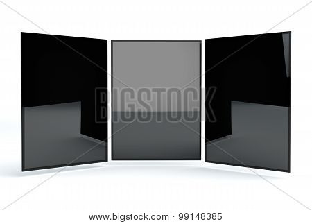 Responsive Web Mock-up. Responsive App Mockup. Black screens are isolated on white background. Web Showcase to show your Web or App design in an elegant attractive unique way poster