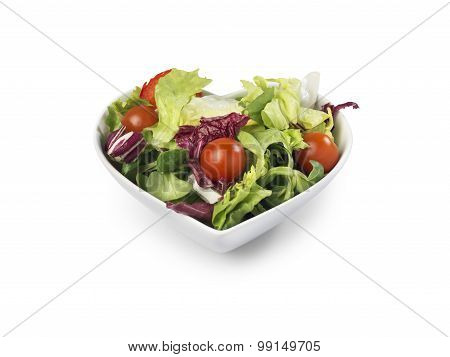 Salad Bowl Heart Shaped - Stock Image