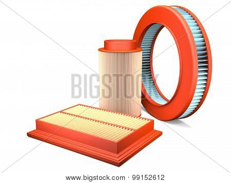 Different Types Of Automotive Air Filters.
