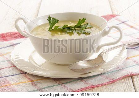 Home Made Potato Cucumber Soup