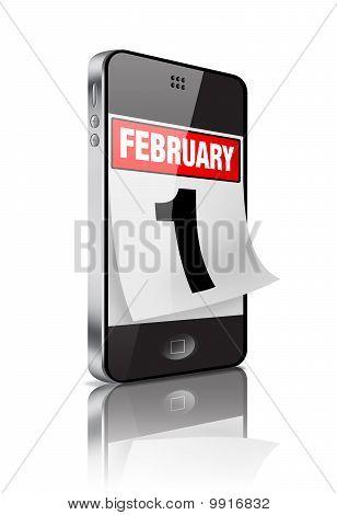 February 1 Mobile Calendar