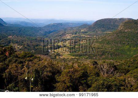 Aerial view of Canela, Rio Grande do Sul in Brazil