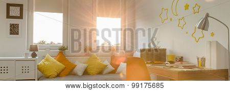Light And Warm Teenager Room
