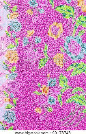 batik sarong pattern background in Thailand traditional batik sarong in Asian poster