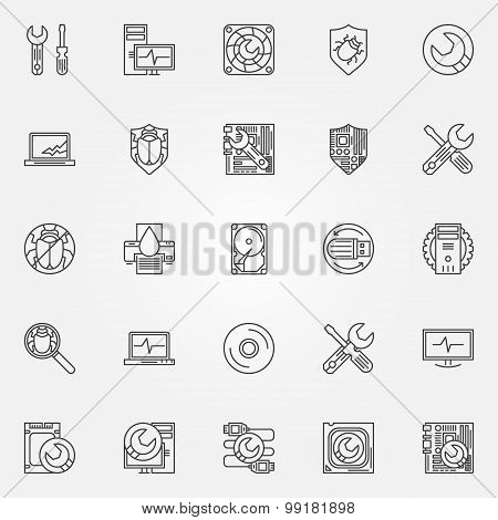 Computer service icons