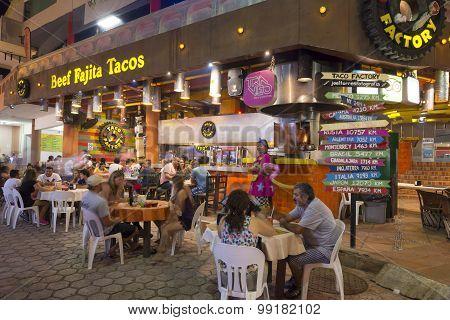 Taco Restaurant In Cancun