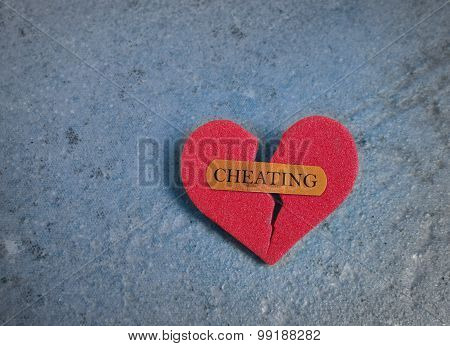 Broken Red Cheating Heart