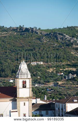 The steeples of the Church of Santa Maria da Devesa