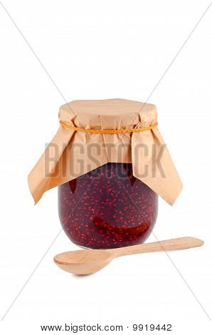 Jam In Glass Jar