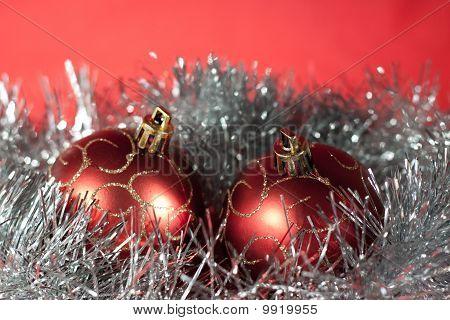 Christmas Ball On Abstract Light