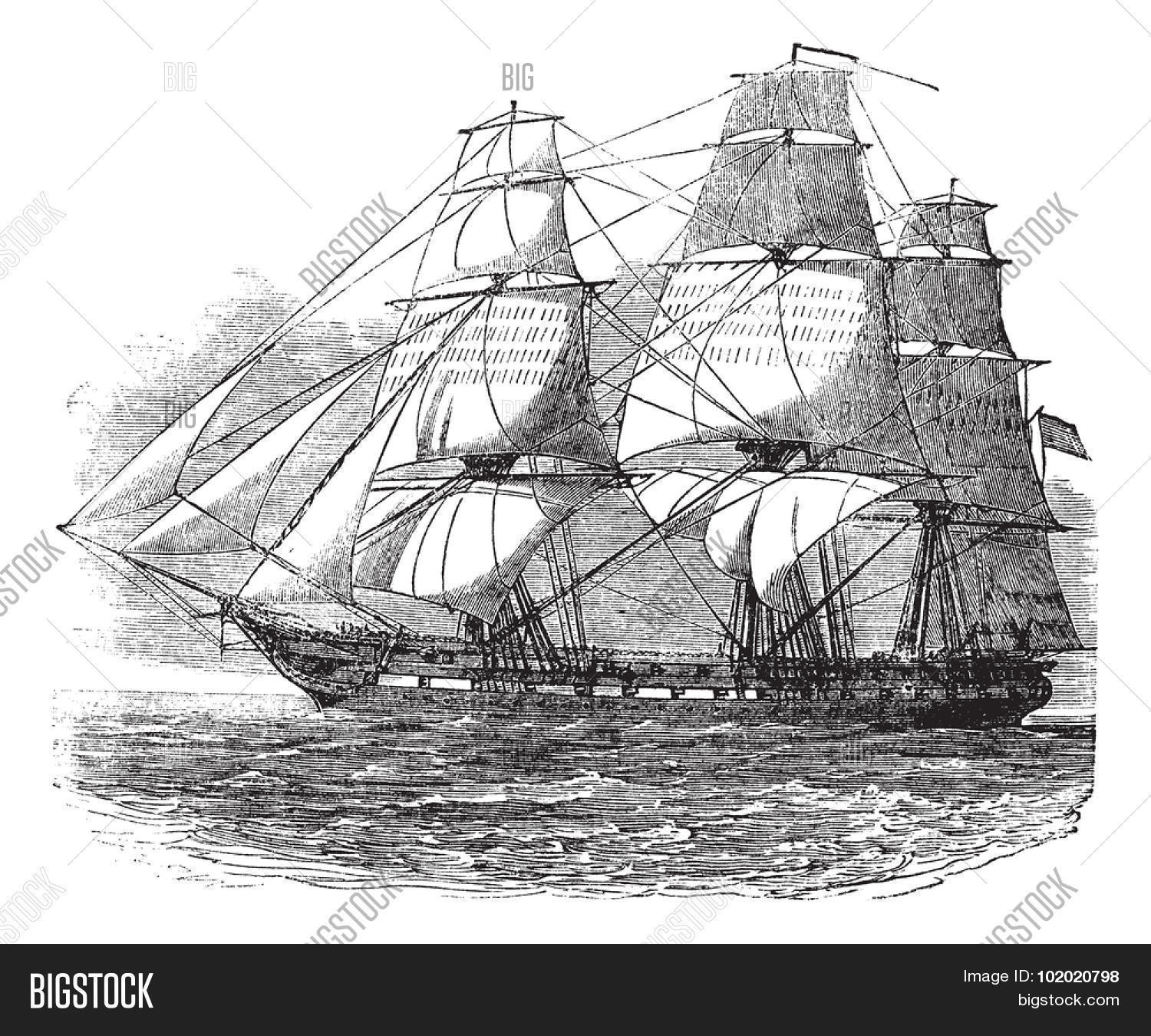uss constitution vector photo free trial bigstock