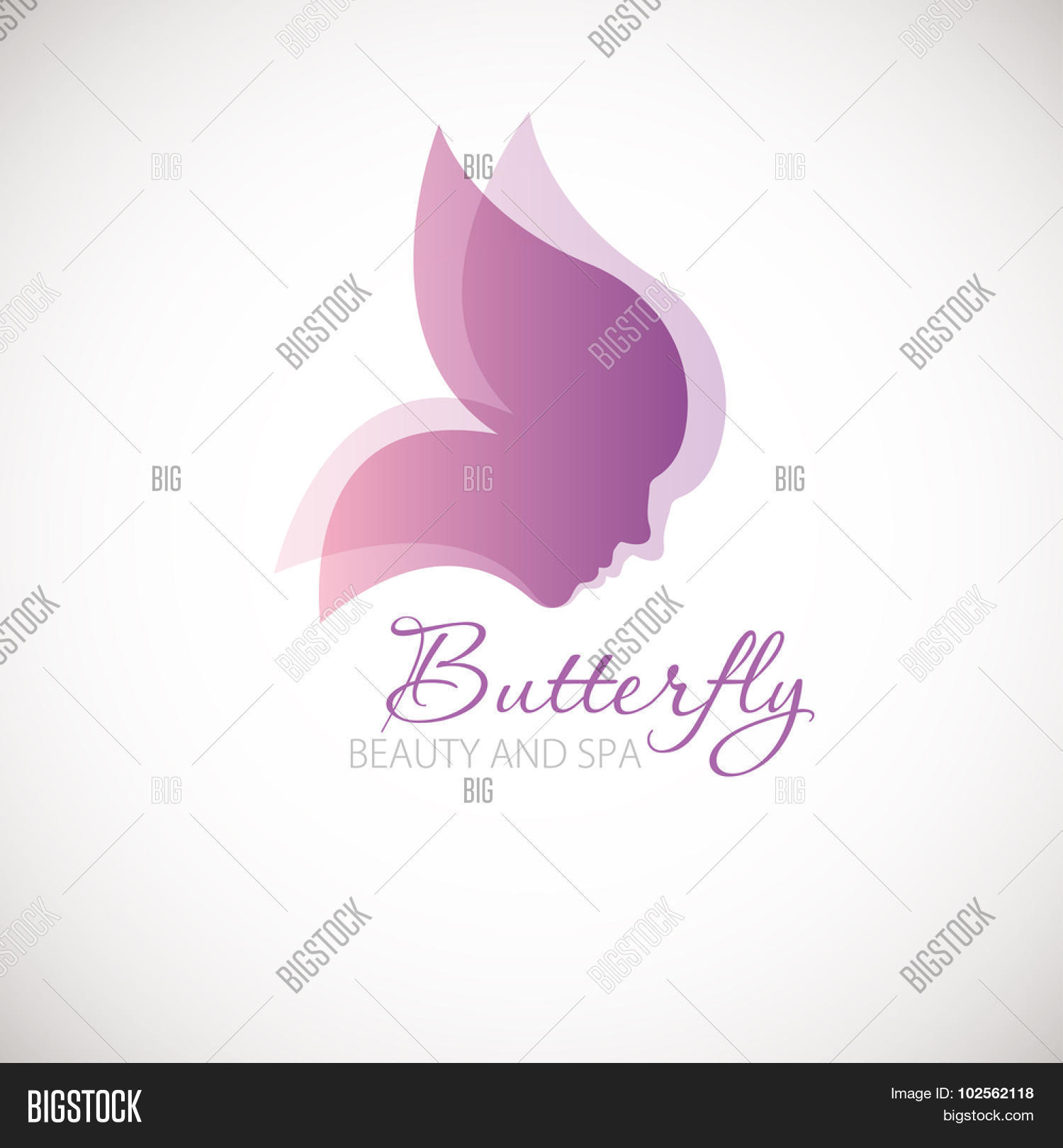 Vector illustration butterfly vector photo bigstock vector illustration with butterfly symbol two womans faces in a shape of butterfly wings biocorpaavc Image collections