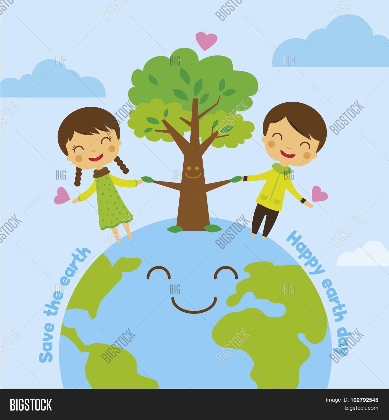 Cartoon Save Earth Vector Photo Free Trial Bigstock