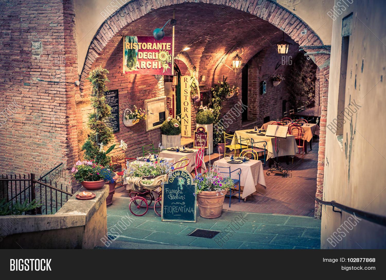 Italian Pizzeria Image Photo Free Trial Bigstock
