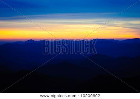 Blue Ridge Parkway Sunset