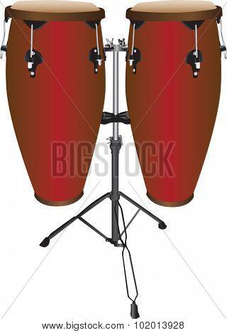 Set of conga  or tumbadora drums.