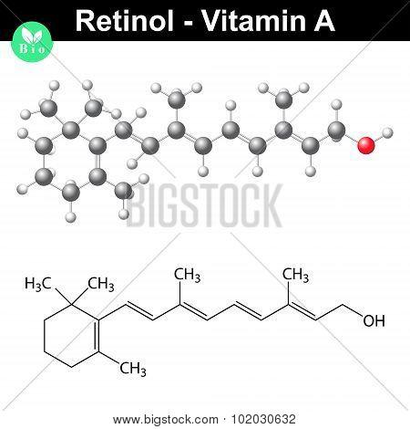 Retinol Structural Chemical Formula