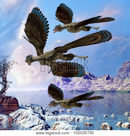 Archaeopteryx Flying Reptiles