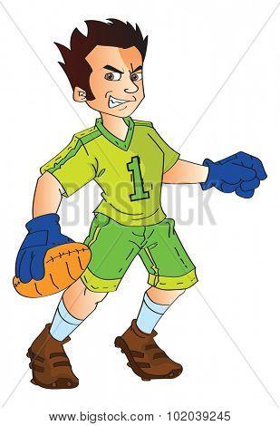 Footbal Player, vector illustration