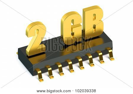 2 Gb Ram Or Rom Memory Chip For Smartphone And Tablet