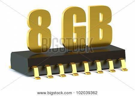 8 Gb Ram Or Rom Memory Chip For Smartphone And Tablet