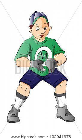 Baseball Player, Catcher, vector illustration