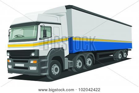 Vector illustration of heavy delivery truck.