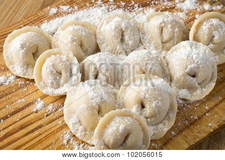Pelmeni In Wheat Flour.