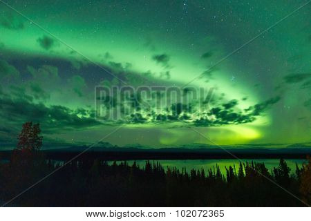 Willow Lake Northern Lights Aurora Borealis Alaska Night Sky