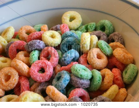Colorful Breakfast Cereal
