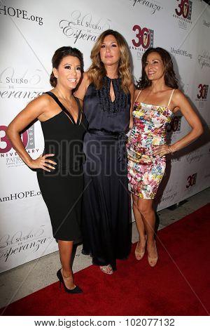 LOS ANGELES - SEP 17:  Eva Longoria, Daisy Fuentes, Constance Marie at the Padres Contra El Cancer's 15th Annual