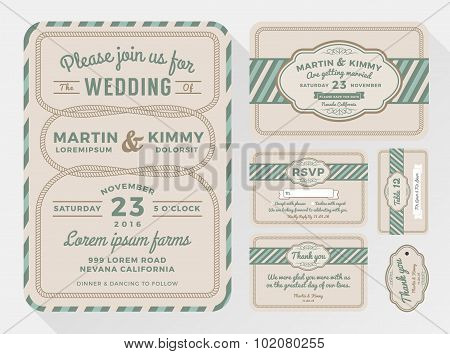 Wedding Invitation Sets For Your Lovely And Friendly Celebration Design With Rope Looped