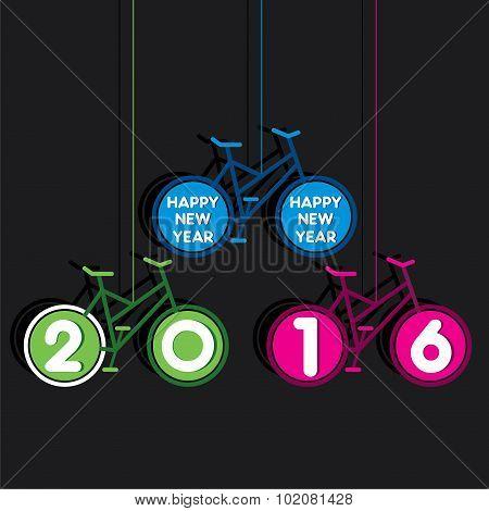 new year 2016 greeting design