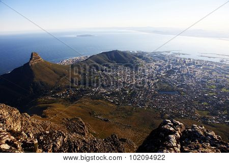 Capetown views from the Tabletop Mountain South Africa