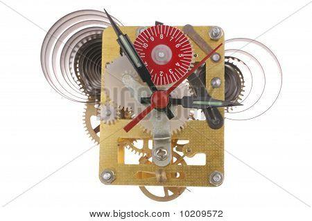 Clock Mechanism Inside View