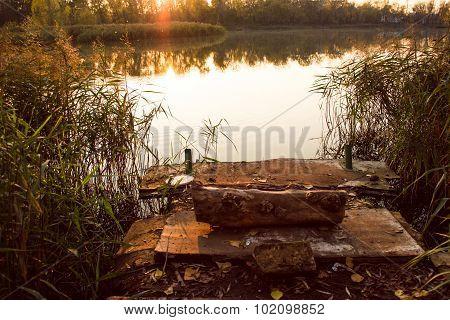 Dais, Log And Water Reed