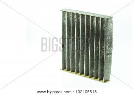 Old Car Aircon Filter Isolated On White Background