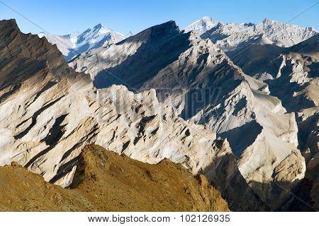 Mountain View From Zanskar Trek, Ladakh