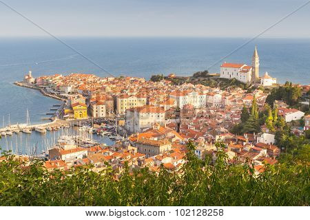 Picturesque old town Piran, Slovenia.